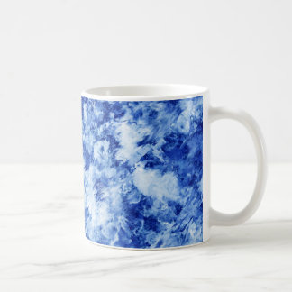 Taza de mármol azul
