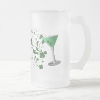 Taza de Martini del día de St Patrick
