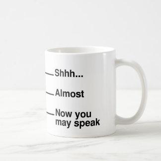 Taza de medición del café