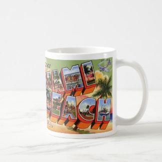 Taza de Miami Beach del vintage