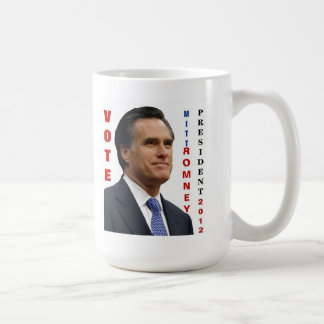 Taza de Mitt Romney 2012 del voto