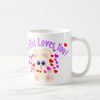 ¡Taza de Mooky - Jesús le ama!