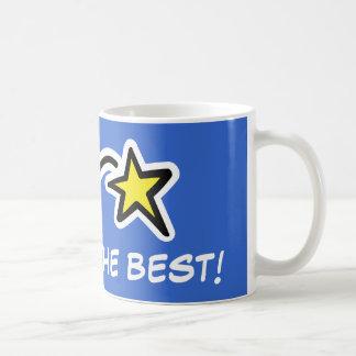 Taza de motivación con la estrella el   usted es e