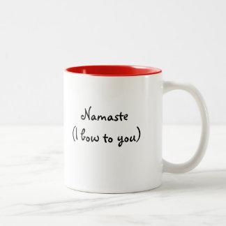 Taza de Namaste (arqueo a usted) -