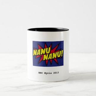Taza de Nanu Nanu, pequeño logotipo