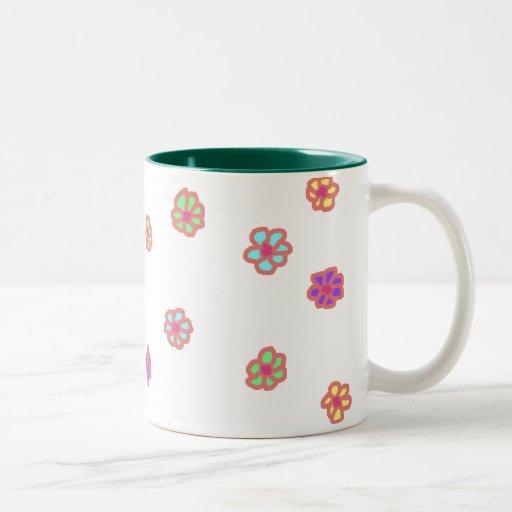 Taza de neón del Dos-Tono de la flor