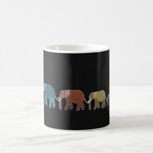 Taza de neón del elefante africano