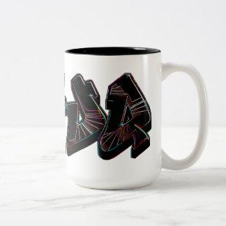 Taza de neón oscura de la pintada de Dafuq