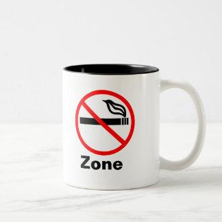 Taza de no fumadores de la zona