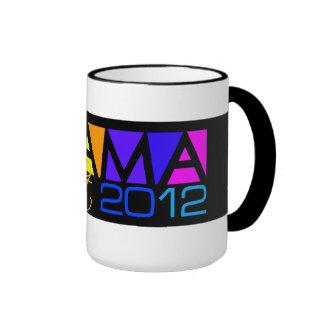 Taza de OBAMA 2012 - elija el estilo y el color