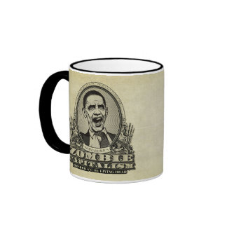 Taza de Obamanomics del capitalismo del zombi