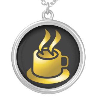 Taza de oro de collar del café