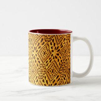 taza de oro de la impresión de Jaipur