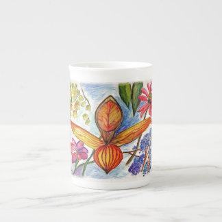Taza de oro de la orquídea tazas de china