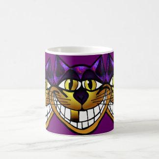 Taza de oro del gato de Cheshire