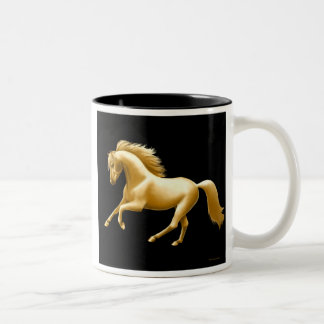 Taza de oro del tono del caballo dos