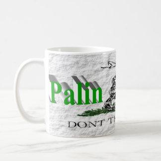 Taza de PALIN 2016, 3D verde claro, Gadsden blanca