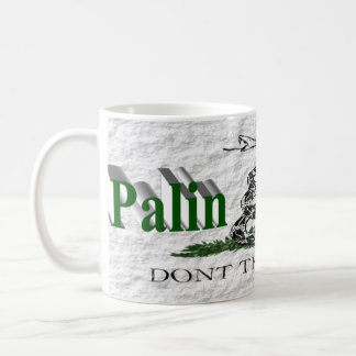 Taza de PALIN 2016, 3D verde, Gadsden blanca