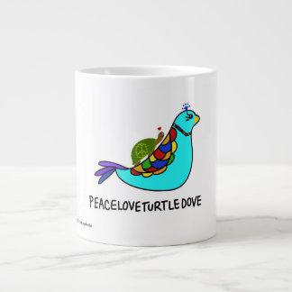 Taza de PeaceLoveTurtleDove Tazas Extra Grande