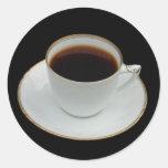 Taza de pegatinas del café