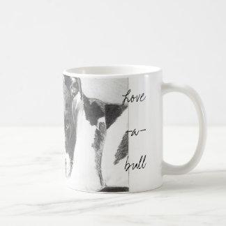 taza de Pitbull del Amor-uno-toro en lápiz de Jaco