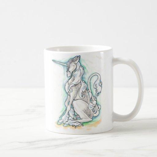 Taza de plata del unicornio