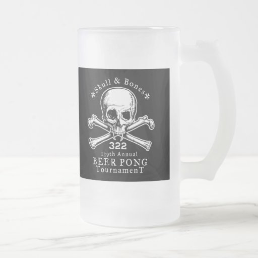 Taza de Pong del cráneo y de la cerveza de los