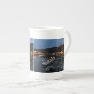 Taza de porcelana de Cochem a de las Mosel a la