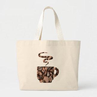 Taza de productos de los granos de café bolsa tela grande