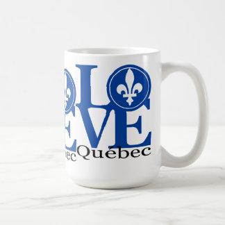 Taza de Quebec 15oz del AMOR