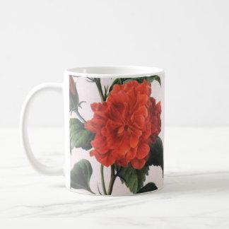 Taza de Redoute del rosa rojo del vintage