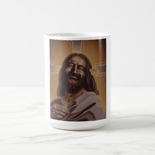 Taza de risa de Jesús de la luna de junio