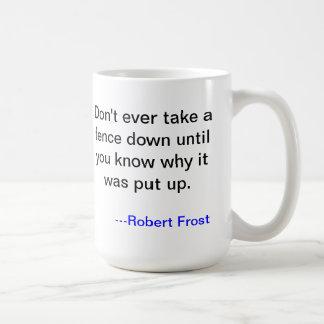 Taza de Robert Frost sobre barreras
