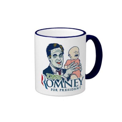 Taza de Romney del zombi