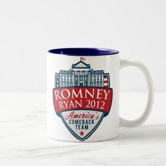 Taza de Romney-Ryan 2012 del equipo de la