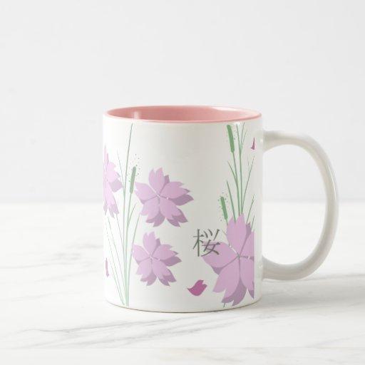 Taza de Sakura del japonés