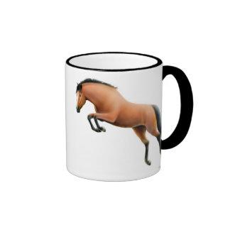 Taza de salto del campanero del caballo de bahía