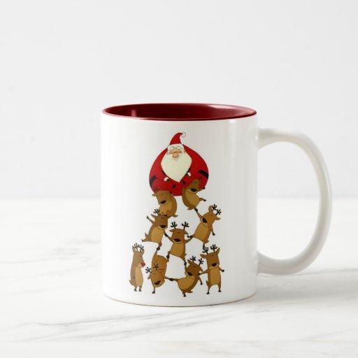 Taza de Santa y del reno