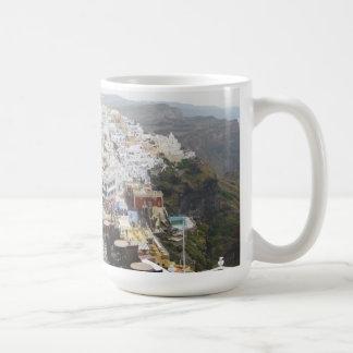 Taza de Santorini de la isla de Grecia