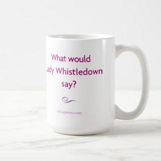 """Taza de """"señora Whistledown"""" de Julia Quinn"""