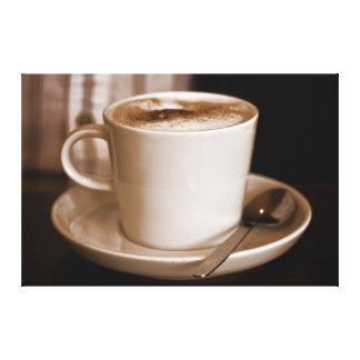 Taza de sepia del café - lona envuelta del formato impresion en lona