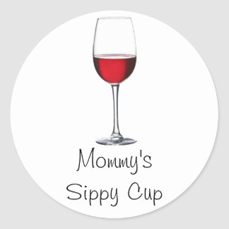 Taza de Sippy de la mamá Etiquetas Redondas