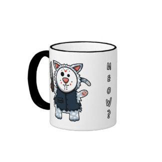 Taza de Slasher del gatito del horror