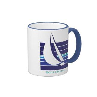 Taza de Square_Boca Raton de los azules del barco