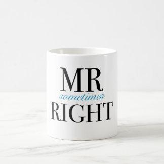 Taza de Sr. Sometimes la Right Classic White