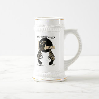 Taza de Stein de la cerveza del anuncio del revólv
