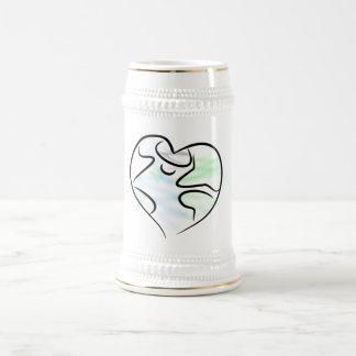 Taza de Stein de la tierra del amor