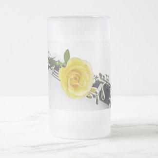 Taza de Stein del café del rosa amarillo del Clari