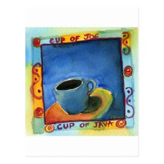 Taza de taza de Java de Joe Tarjeta Postal