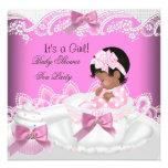 Taza de té afroamericana del bebé del rosa del chi